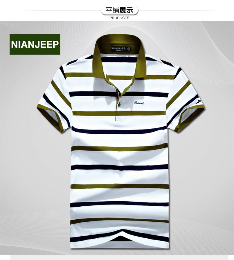 NIANJEEP Jeep Lá Chắn t-shirt nam ngắn tay kinh doanh bình thường cotton 2017 mùa hè người đàn ông mới của polo áo sơ mi áo thun có cổ