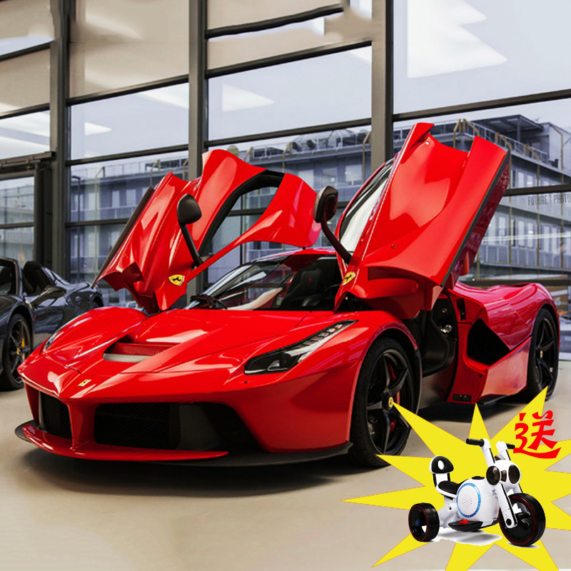 Ferrari Children S Electric Car Four Wheel Remote Control 4 5 Years Old Child Stroller