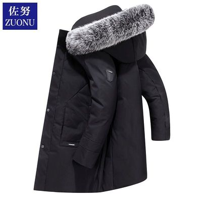 羽绒服男士中长款加厚2019年新款帅气潮流牌学生爆款冬季工装外套