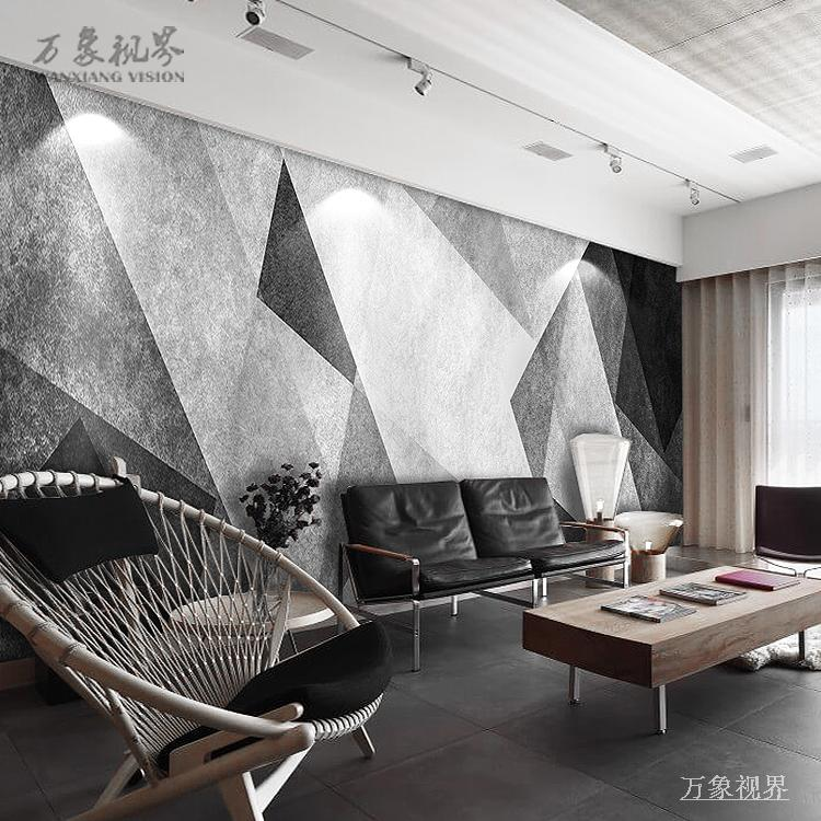TV background wall Nordic living room bedroom geometric wallpaper abstract  film and television wall painting wall covering simple modern wallpaper