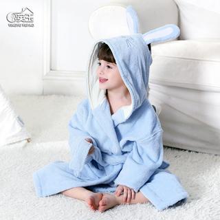 Банные халаты,  A категория ребенок халаты чистый хлопок полотенце мальчиков и девочек, ребенок сгущаться ванна сосна крышка отцовство плащ полотенце четыре сезона, цена 1600 руб
