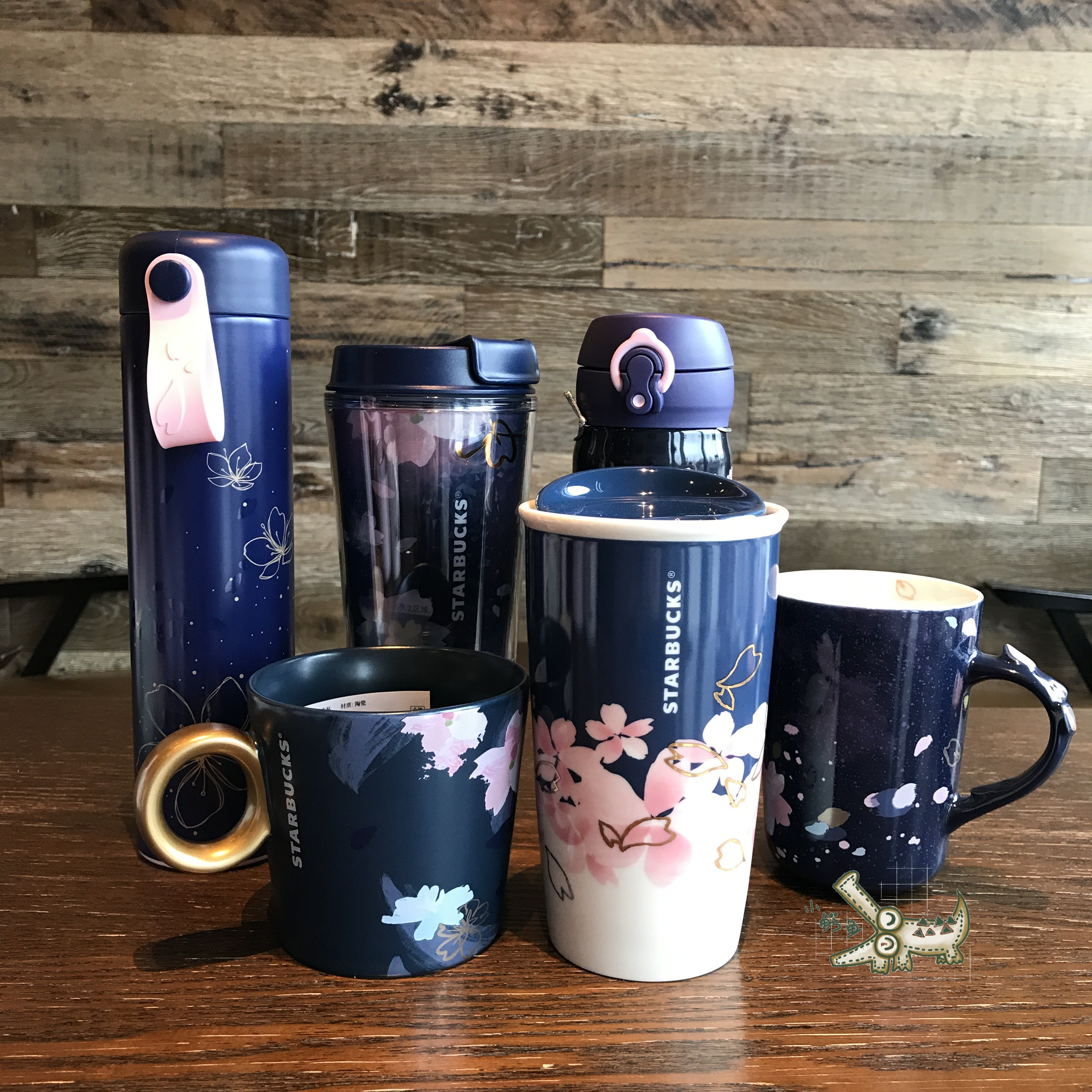 Starbucks Cup 2018 Cherry Blossom Season Colorful Romantic Day Sakura Night Sakura Stainless Steel Insulation Color Change Glass Mug