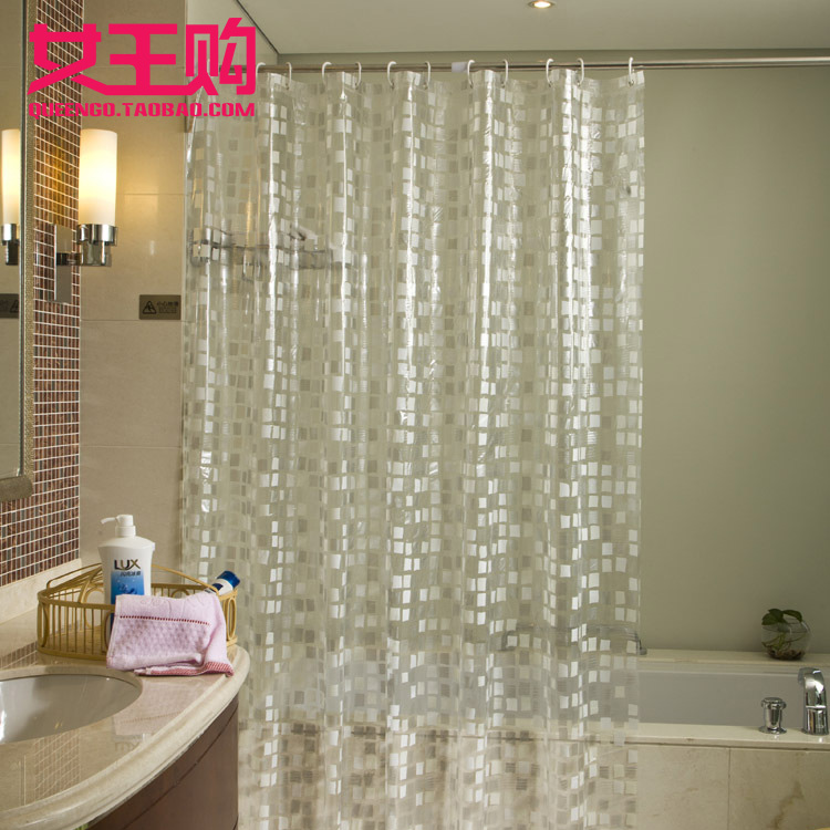 Pebbles Shower Curtain Mosaic Waterproof Thickening Mildew Pvc Bathroom Metal Eye Hook