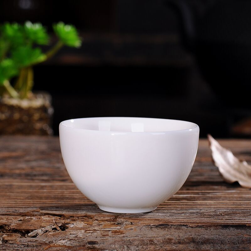 德化劲玉瓷品茗杯纯白色陶瓷小茶杯优惠后1元包邮