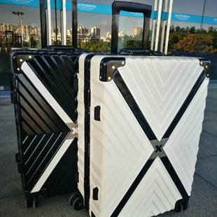 【出行好伴侣】铝框复古直角创意旅行箱