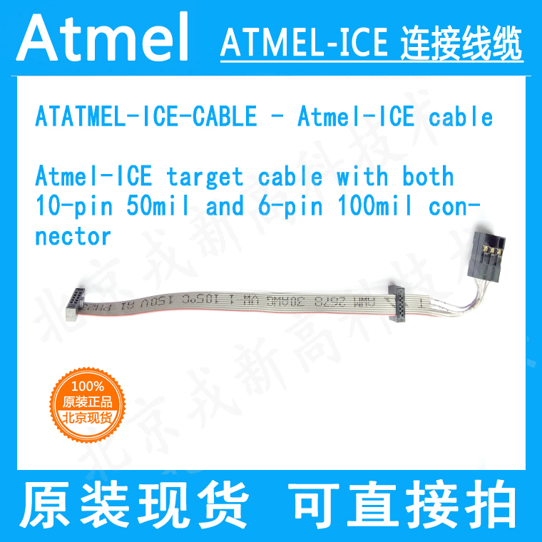 ATATMEL-ICE-CABLE 10-pin 50mil and 6-pin 100mil adapter cable