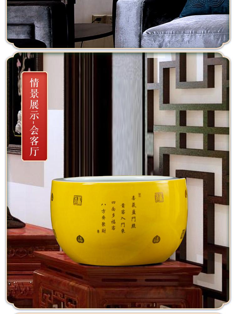 Jingdezhen ceramics cornucopia sitting room of Chinese style household aquarium flowerpot five NiuTu hydroponic furnishing articles ornament