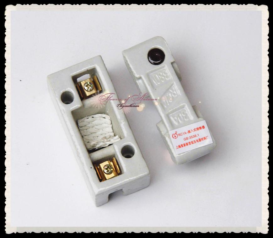 Usd thickened copper ceramic fuse box a plug in