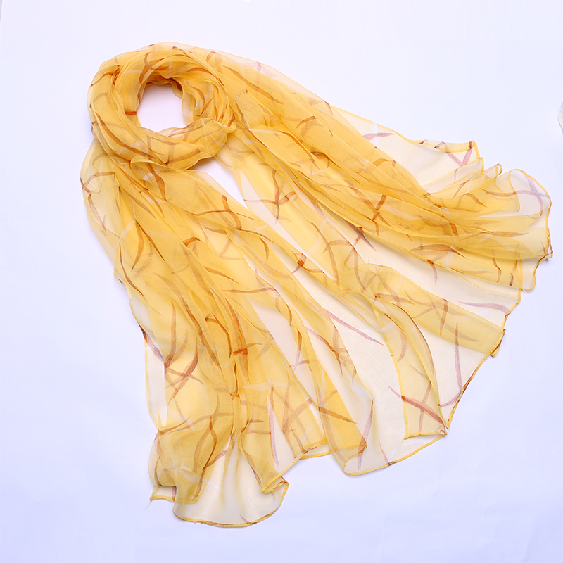 丝巾女百搭春秋长款桑蚕丝薄款送礼妈妈纱巾洋气时尚网红围巾新款