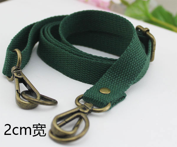 Dark Green 2cm Wide Bronze Buckle