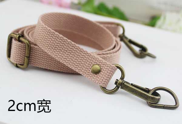 Lotus Pink 2cm Wide Bronze Buckle
