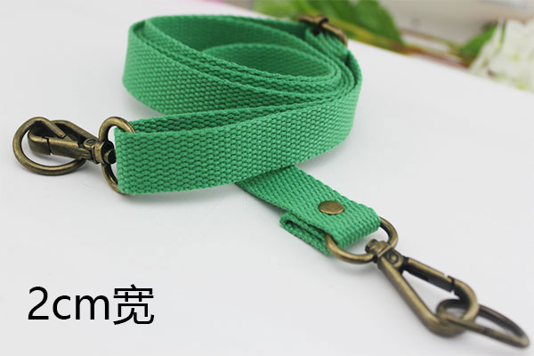 Green 2cm Wide Bronze Buckle