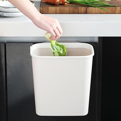 厨房橱柜门挂式垃圾桶家用分类无盖厨余壁挂垃圾篮悬挂式收纳桶