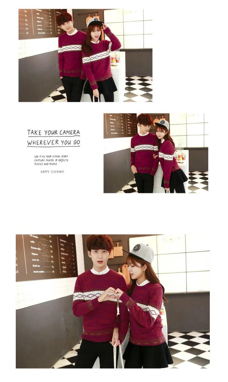 Áo len nam Hàn Quốc phiên bản của vòng cổ sinh viên xu hướng người yêu tươi nhỏ phụ nữ 2018 mùa thu và mùa đông áo len mới áo len