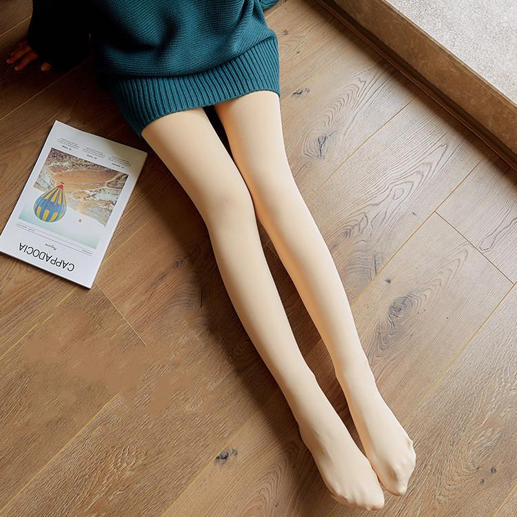 秋冬保暖一体裤大码光腿袜神器加绒加厚连裤袜防勾丝打底裤女外穿