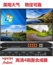 KVM 4-channel image splitter HDMI and VGA/BNC hybrid 4 in 1 out split screen picture-in-picture overlay roaming