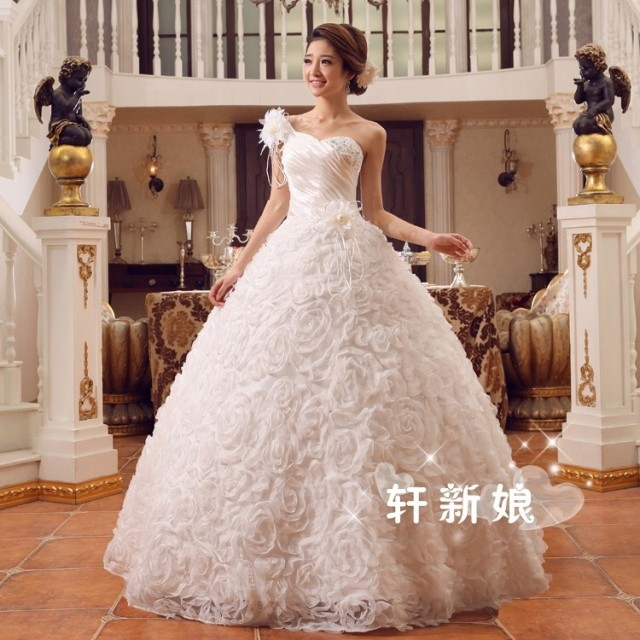 11023d6c0c Korean-style large red wedding dress