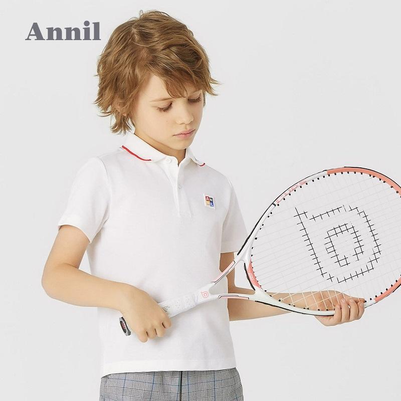【安奈儿】男童POLO衫翻领短袖