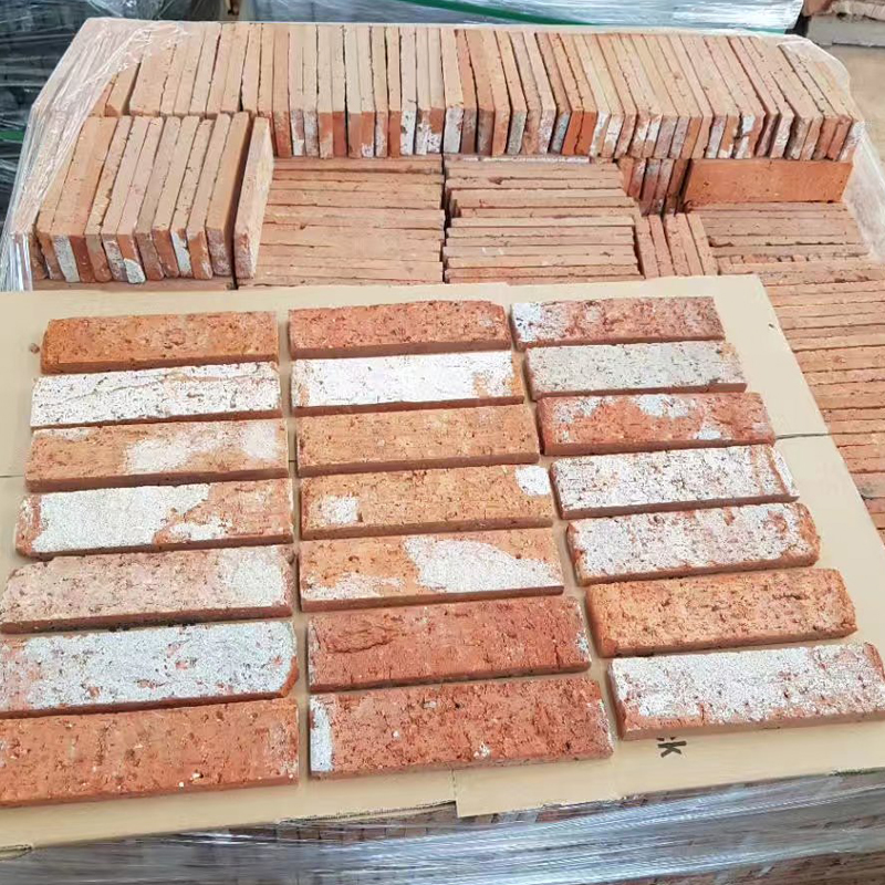 USD 4.32] Antique brick red brick do old red brick skin slice retro ...