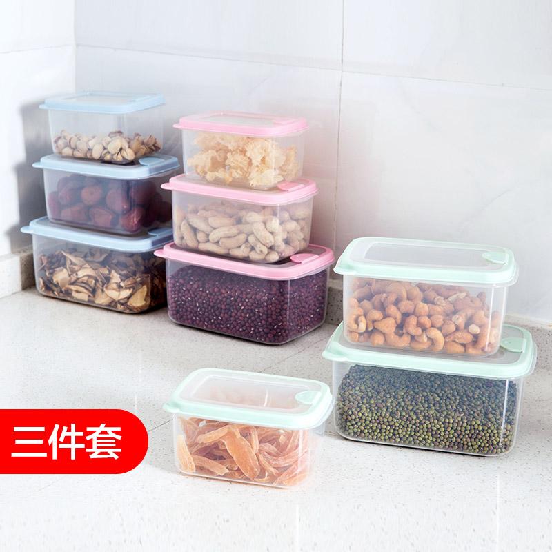 Домой домой холодильник еда сохранение коробка кухня в коробку три образца пластик прямоугольник фрукты легко коробка коробка для завтрака