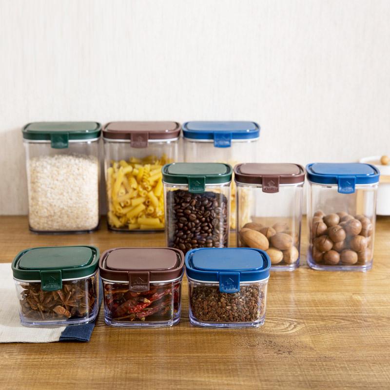 Домой домой покрытый печать бак кухня разное зерна нулю еда в коробку пластик прозрачный сухое молоко хранение бак магазин депозит бак