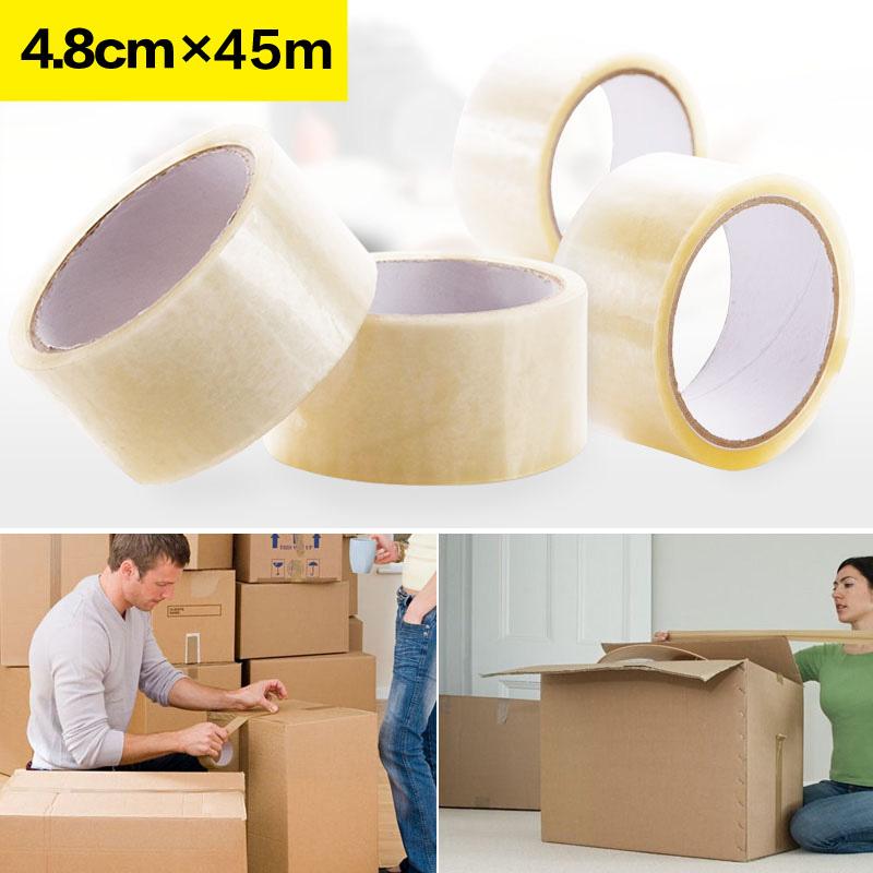 Домашние Главная Большая пропускная способность клея пакет Уплотнительная лента Taobao carton пакет Прозрачная пластиковая лента прозрачный клей