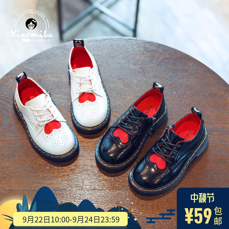 159ae85c1 2018 новая коллекция на девочку небольшой кожаная обувь демисезонный сезон  детские винтаж детские Гороховая обувь,