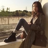 2018 новая коллекция осень-зима сезон замшевый винтаж тепловоз винтаж ботинки женщина из натуральной кожи на плоской подошве высокий 1460 берцы