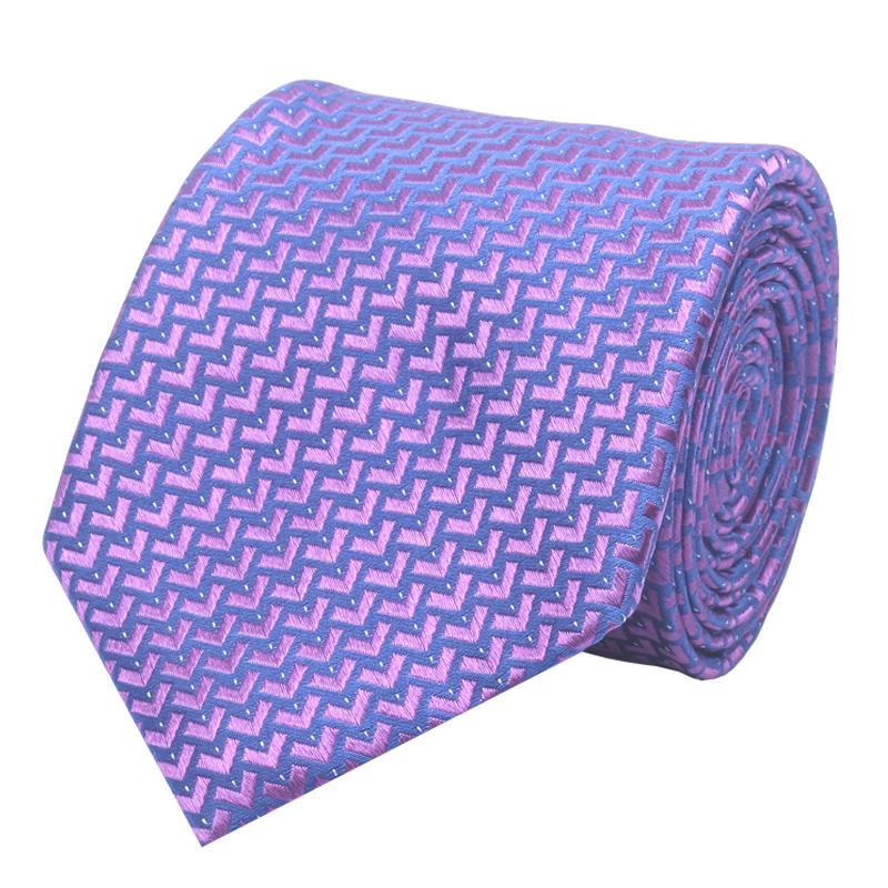 雅戈尔真丝领带男礼盒v礼盒商务8CM紫色装桑蚕丝新款YB76100KQT