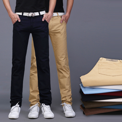 2017 autumn and winter new men's casual pants men's slim self-cultivation students earth trousers leisure leisure