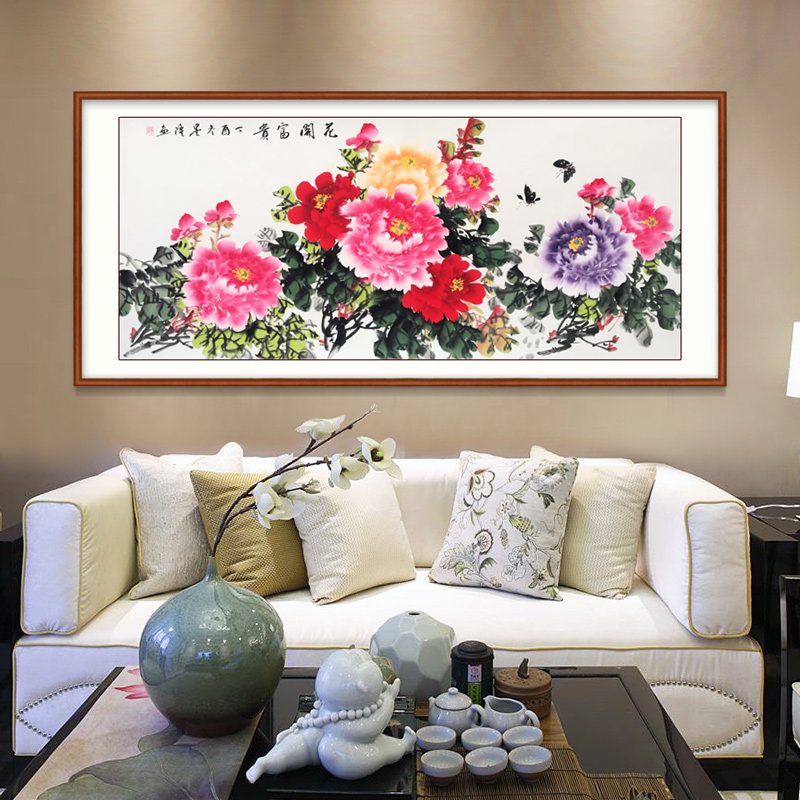Painting The Living Room Decorative Painting Peony Paintings