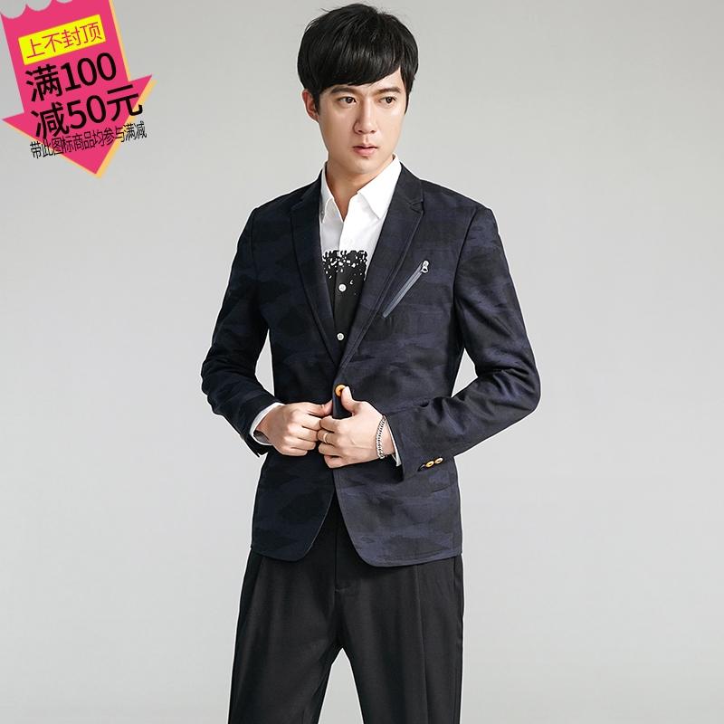 男士男装KANKAN88FF00570057外套高端西装领夹克商务修身版3.14春