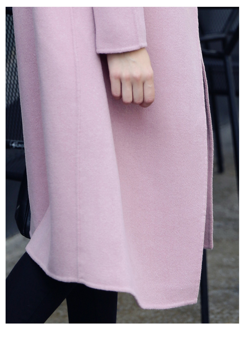 Chống giải phóng mặt bằng hai mặt phần dài 2017 áo len của phụ nữ 茧 loại len trên đầu gối áo len phụ nữ