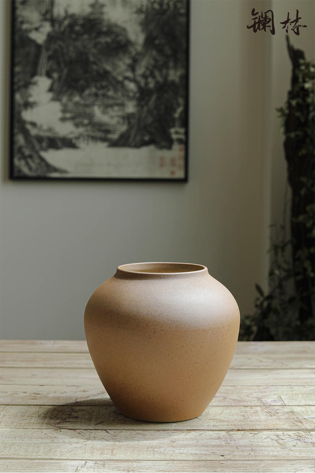 Dry flower is plain coloured coarse pottery vase office decoration to the hotel teahouse study zen mesa place ceramic POTS
