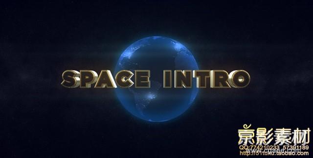 AE模板-三维电影logo太空预告片头 Space Intro-Element 3D