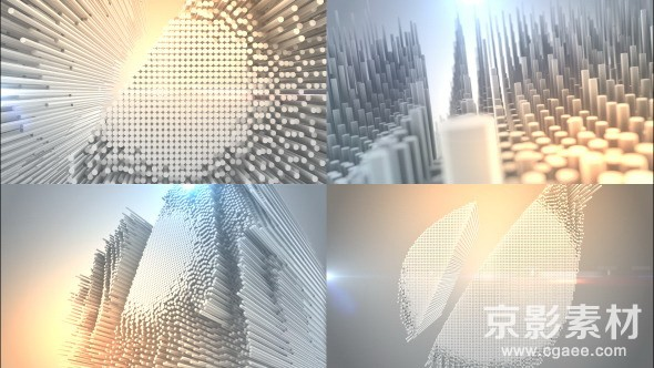 AE模板-震撼E3D针艺术logo演绎片头 Pinart Logo Text Reveal