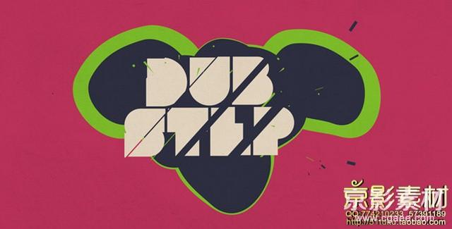 AE模板-简单抽象创意Logo标志演绎片头Dubstep Logo