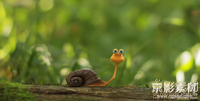 AE模板-蜗牛动画LOGO标志片头 The Snail Logo Opener