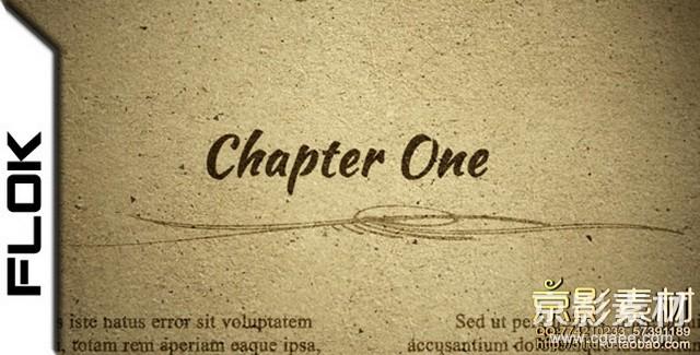 AE模板-复古旧书籍报纸介绍展示片头 Chapter One