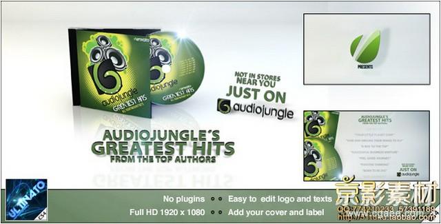 AE模板-光盘封面推广宣传片头 CD Promotion