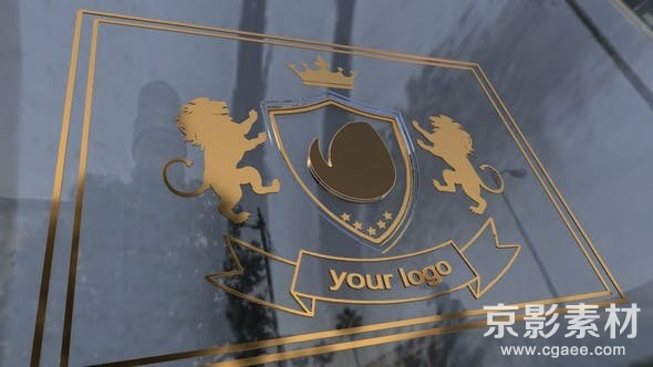 AE模板-金色透明质感电影Logo开场动画展示片头 King Tower 23605697