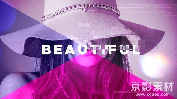 AE模板-流行时尚画面切割图片视频展示片头 Fashion Promo 21800740