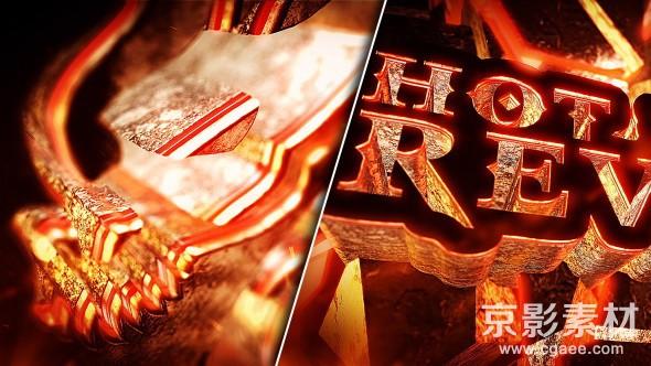 AE模板-震撼炙热火焰logo演绎E3D效果片头Hot Logo Reveal