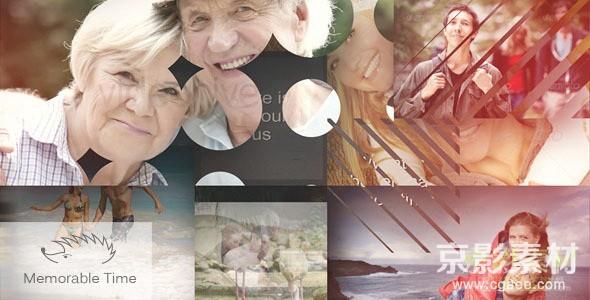 AE模板-难忘时刻温馨家庭幻灯片展示片头 Memorable Time