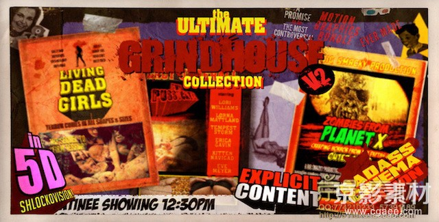 AE模板-无限恐怖风格模板包 The Ultimate Grindhouse Collection V2