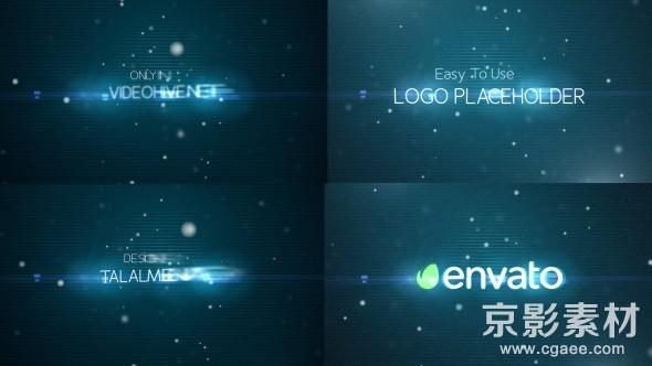 AE模板-粒子故障效果电影预告片头 Glitch Promo