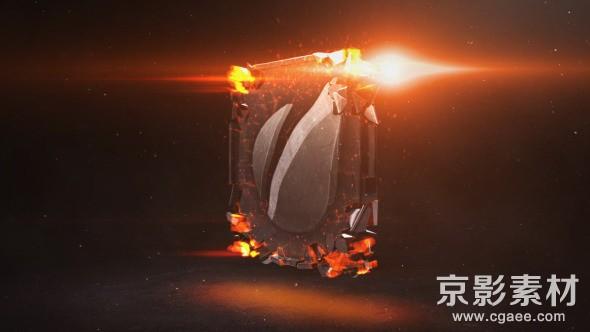 AE模板-震撼电影工业质感logo碎片汇聚片头 Industrial Impact