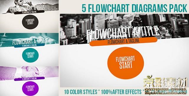 AE模板-现代风格商务类片头 Flowchart Diagrams Pack