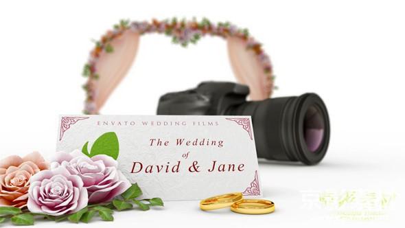 AE模板-婚礼摄影介绍片头 Wedding Film Intro