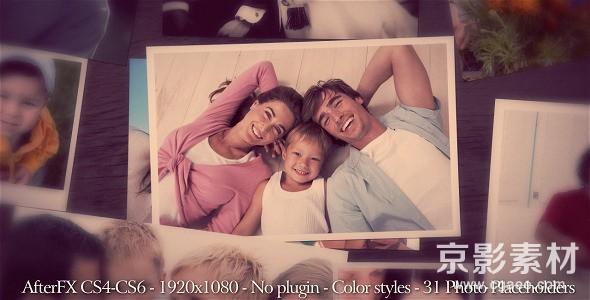 AE模板-粉红色调家庭相册片头 Photo Gallery